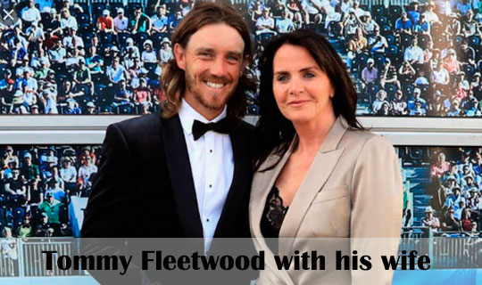 Tommy Fleetwood with his wife
