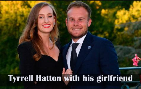 Tyrrell Hatton with his girlfriend