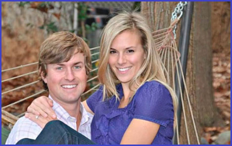 Webb Simpson with his wife Dowd
