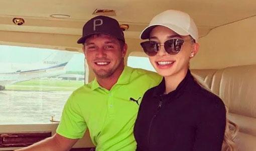 bryson dechambeau with his girlfriend