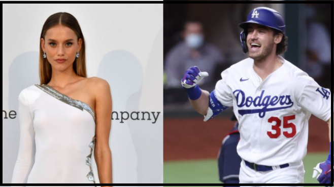 Cody Bellinger with his girlfriend