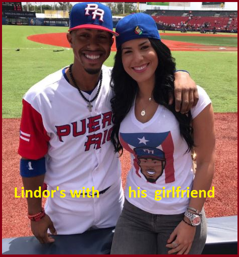 Francisco Lindor with his girlfriend