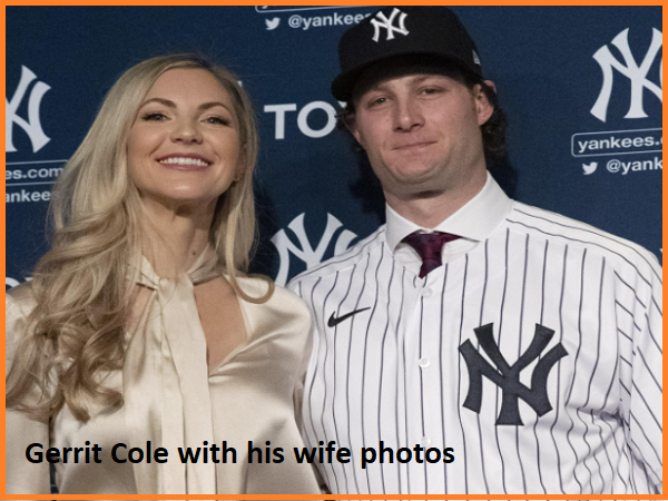 Gerrit Cole with his wife