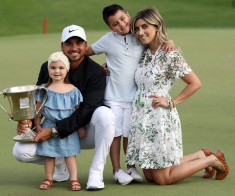 Jason Day's wife with their children