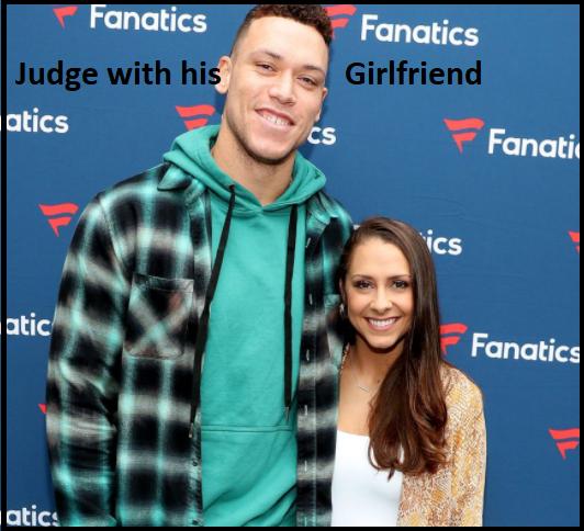 Aaron Judge with his girlfriend