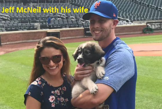 Jeff McNeil with his wife