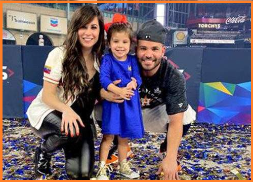 Jose Altuve with his wife