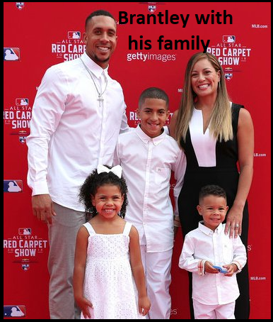Michael Brantley's wife with their children