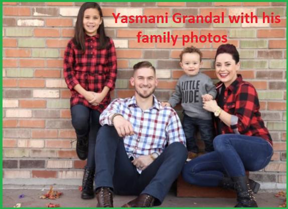 Yasmani Grandal wife with their children