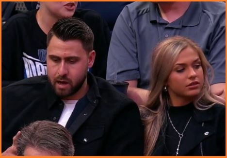 Joey Gallo with his girlfriend