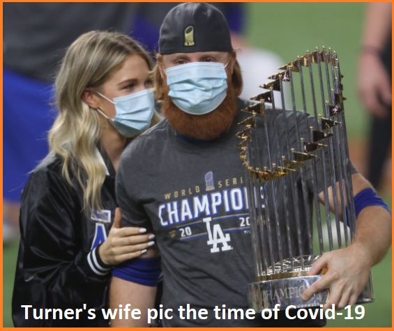 Justin Turner with his wife