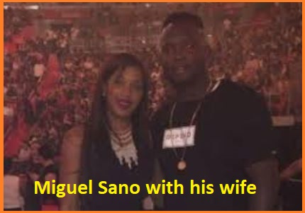 Miguel Sano with his wife