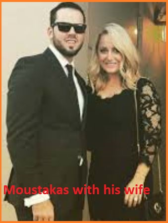 Mike Moustakas with his wife