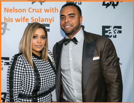 Nelson Cruz with his wife