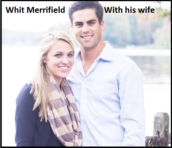 Whit Merrifield with his wife