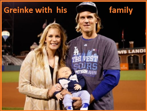Zack Greinke's wife and their child