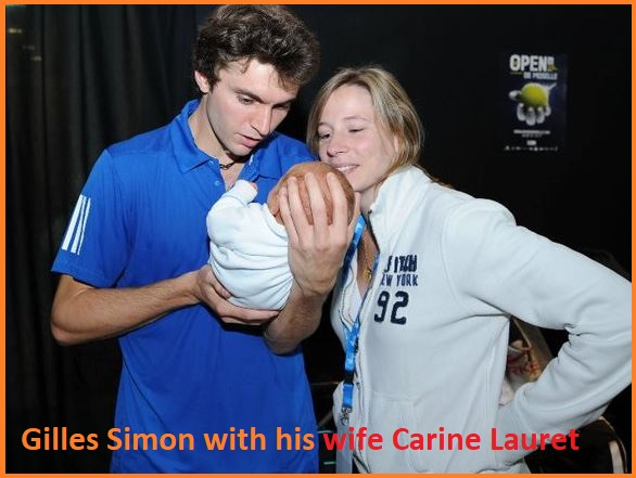 Gilles Simon with his wife