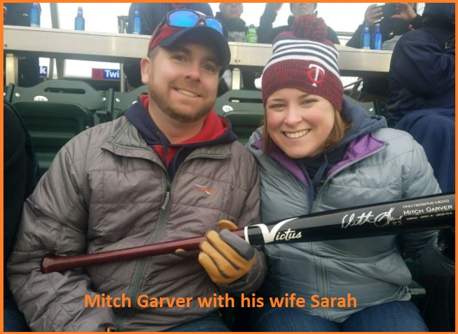 Mitch Garver with his wife