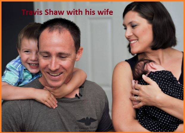 Travis Shaw with his wife