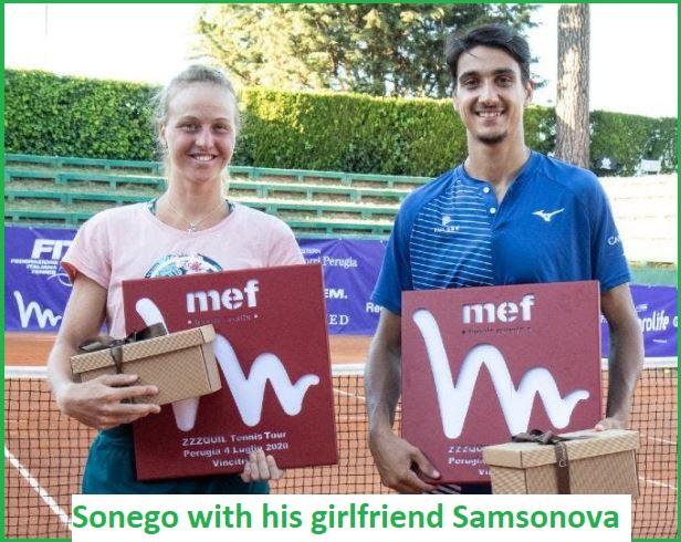 lorenzo sonego's girlfriend Liudmila Samsonova