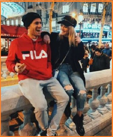 Federico Coria with his girlfriend