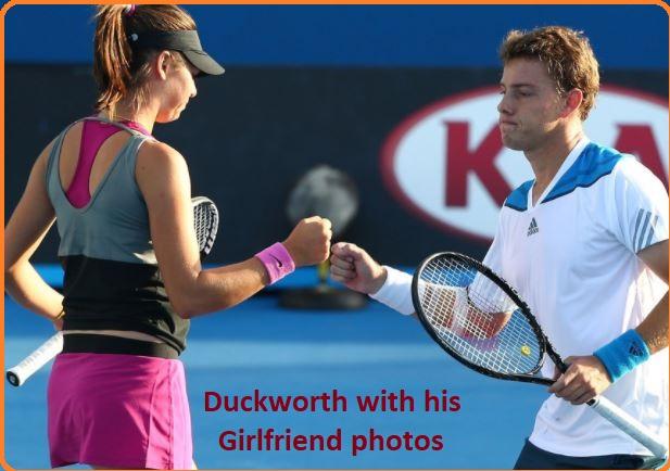 James Duckworth with his girlfriend