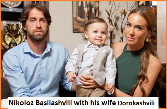 Nikoloz Basilashvili with his wife