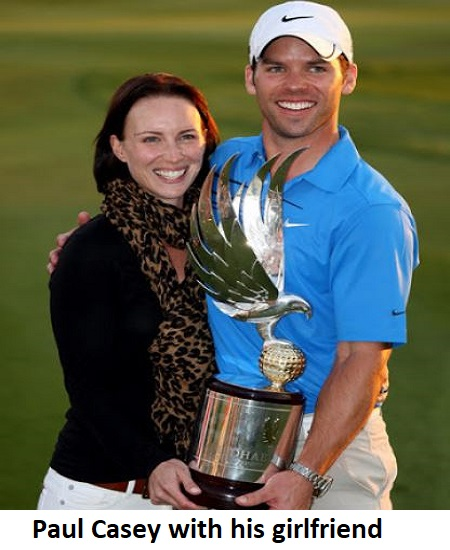 Paul Casey with his wife