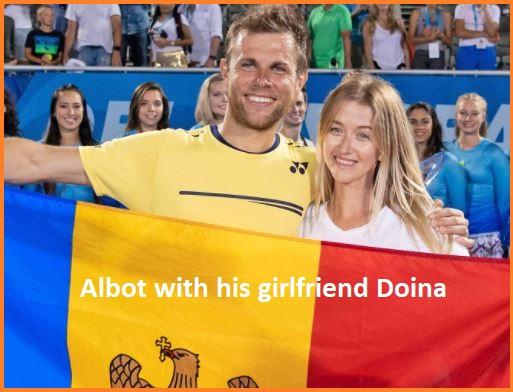 Radu Albot with his girlfriend