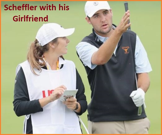 Scottie Scheffler with his girlfriend