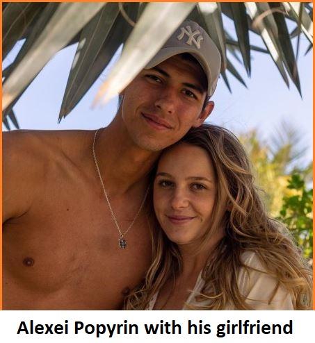 Alexei Popyrin with his girlfriend