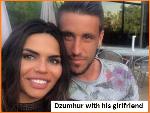 Damir Dzumhur with his girlfriend