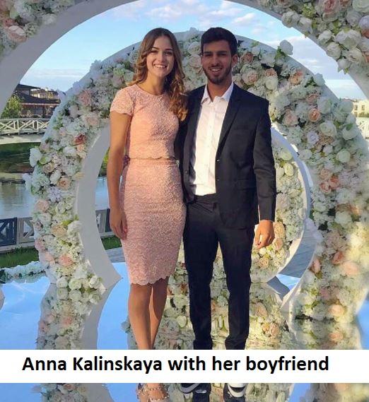 Anna Kalinskaya with her boyfriend