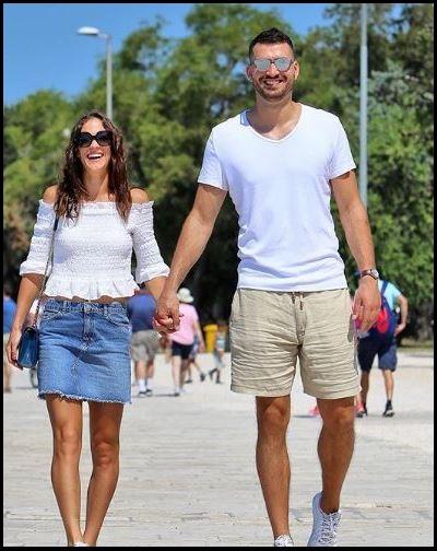 Bernarda Pera with her boyfriend