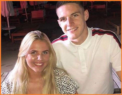 Declan Rice with his girlfriend