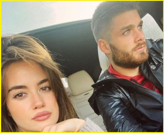Duje Caleta Car with his girlfriend