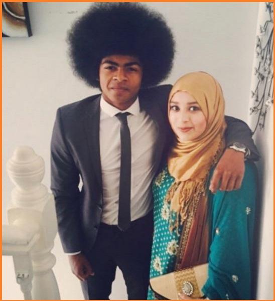 Hamza Choudhury with his girlfriend