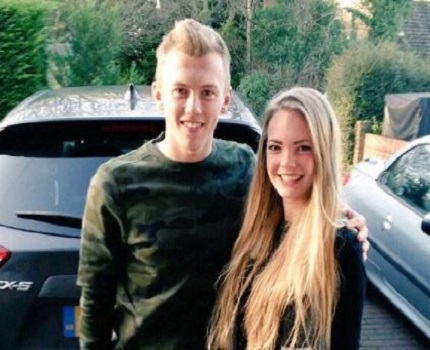 James Ward Prowse with his girlfriend
