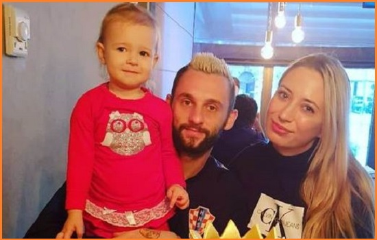 Marcelo Brozovic with his wife