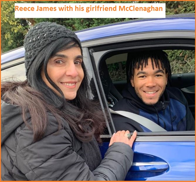 Reece James with his girlfriend