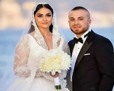 Esra Bilgic with her husband