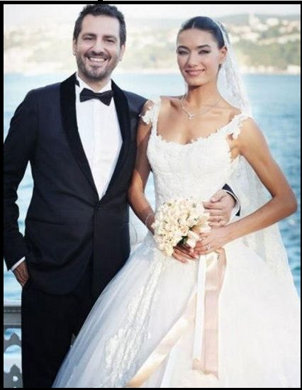 Hande Subasi with her husband