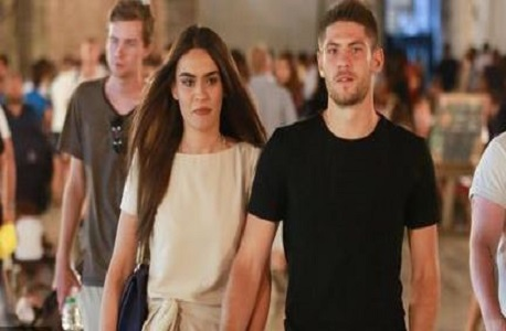Kramaric with his girlfriend