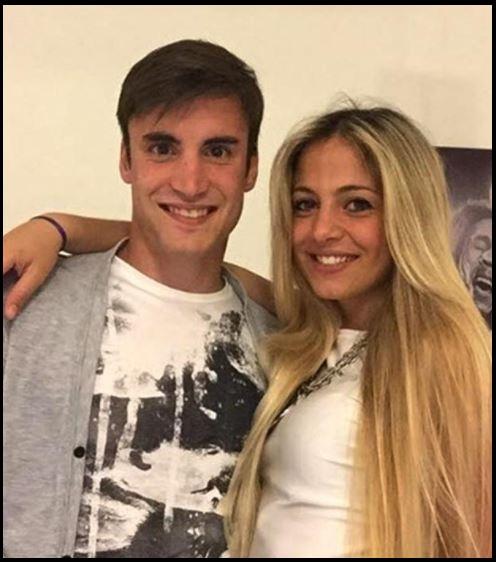 Nicolas Tagliafico with his girlfriend