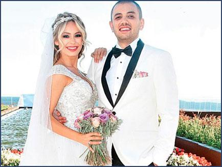 Buse Arslan with her husband