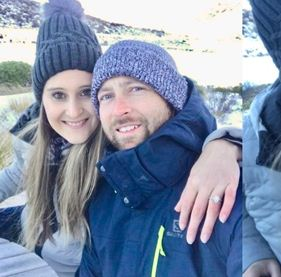 Devon Conway with his girlfriend