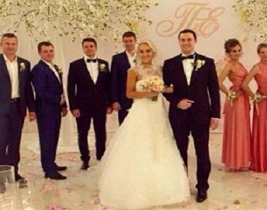 Elena Vesnina with her husband
