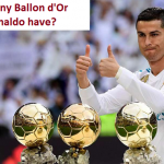 How many ballon d'or does Ronaldo have