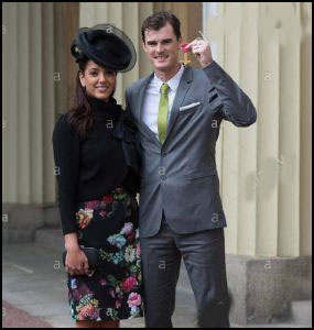 Jamie Murray with his wife