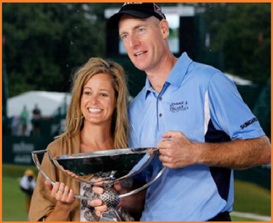 Jim Furyk with his wife